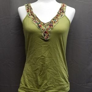 Maurices green beaded tank